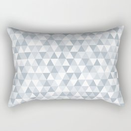 shades of ice gray triangles pattern Rectangular Pillow