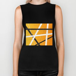 Orange Criss Cross Biker Tank