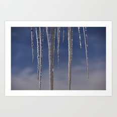Ice in the air Art Print
