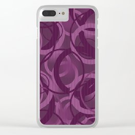 Seamless pattern with circles on purple background Clear iPhone Case