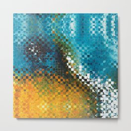 Abstract Art - Pieces 9 - Sharon Cummings Metal Print