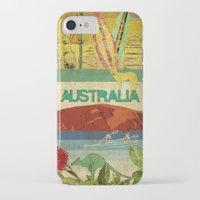 australia iPhone & iPod Cases featuring Australia by LilianaPerez