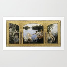 Akseli Gallen-Kallela - Aino Myth Art Print