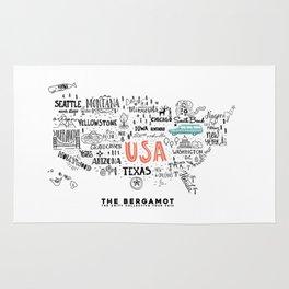 The Bergamot & The Unity Collective USA Official Logo Rug