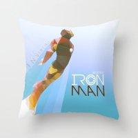 iron maiden Throw Pillows featuring Iron by Ed Burczyk