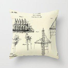 Ship's Rigging-1927 Throw Pillow