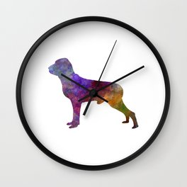 Italian Pointer in watercolor Wall Clock