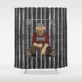 Sockmonkey Lumberjack Shower Curtain