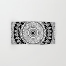 Black and White Mandala Two Hand & Bath Towel