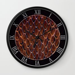 Cobra snake skin pattern Wall Clock