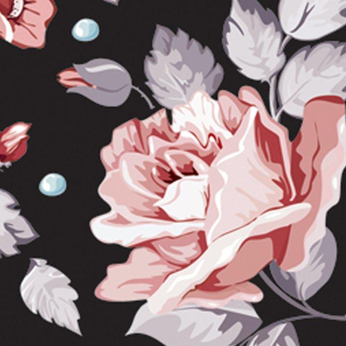 Vintage Pink Rose Flowers Leggings
