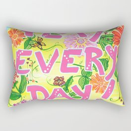 Play Every Day! Flower Painting Rectangular Pillow