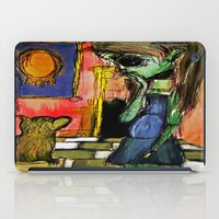 toilet iPad Cases featuring Girl and Toilet by Nicole Medearis
