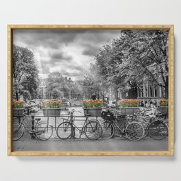AMSTERDAM Gentlemen's Canal | panoramic view Serving Tray