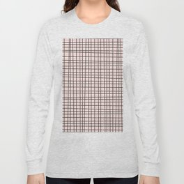 Back to Schoo l- Simple Grid Pattern- Black & Pink - Mix & Match with Simplicity of Life Long Sleeve T-shirt