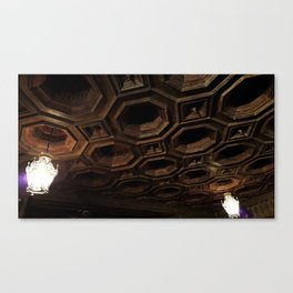 Library Ceiling in the Castle Canvas Print