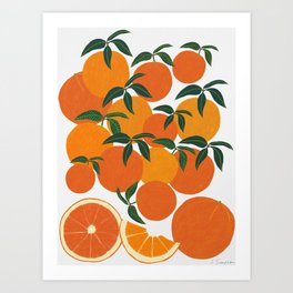 Orange Harvest - White Art Print