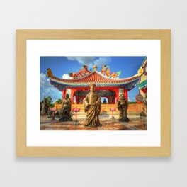 Bronze Buddhist Statue Thailand Framed Art Print