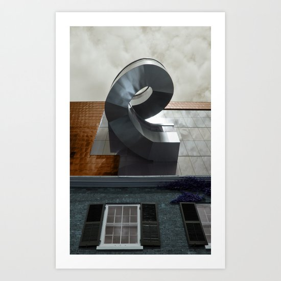 old. new. sky... Art Print