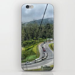 Cars flocking on the uphill road at Cameron Highlands Malaysia. iPhone Skin