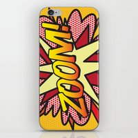 comic book iPhone & iPod Skins featuring Comic Book ZOOM! by The Image Zone