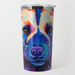 Painted Hunting Dog / African wild dog Travel Mug