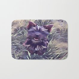 Black Yorkshire Terrier Bath Mat