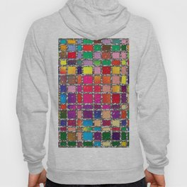 Stained Glass Window Multicolour Pattern Hoody