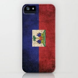Old and Worn Distressed Vintage Flag of Haiti iPhone Case