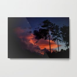 Burning Summer Sky. Metal Print