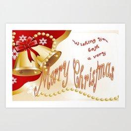 Wishing You Both A Very Merry Christmas Art Print