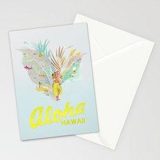 Aloha, Hawaii (Blue) Stationery Cards