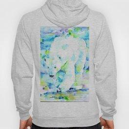 POLAR BEAR - watercolor portrait Hoody