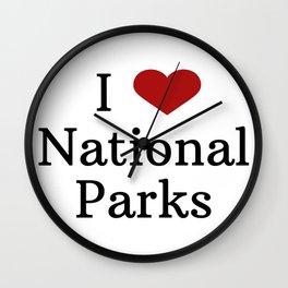 I Love National Parks Wall Clock