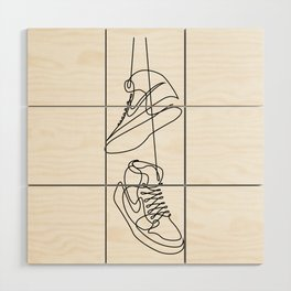 Sneakers art,Casual Shoes,Hipster Prints, Wall Art,Large Poster Decor,shoe art ,Black White Wood Wall Art