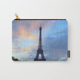 Paris Eiffel tower, French, romantic, couples, travel, landmark Carry-All Pouch