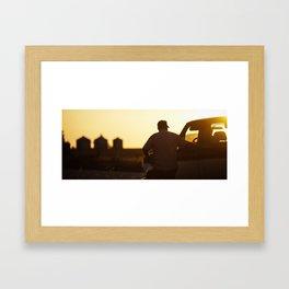 Roadside Chat Framed Art Print
