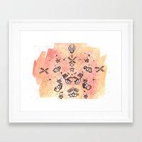 budi satria kwan Framed Art Prints featuring Satria Manah Batik by Lalitia A. Rakhmanda