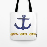 nautical Tote Bags featuring Nautical by DesignSam