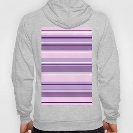 Mixed Striped Design Pinks Purples White Hoody