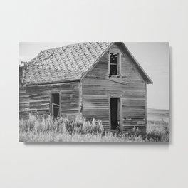 Falling Farm House, North Dakota 12 Metal Print