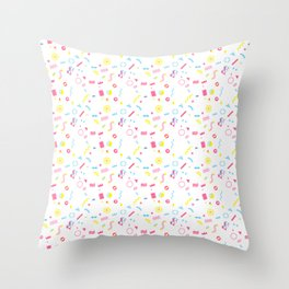 Retro Colorful Memphis Pattern Throw Pillow