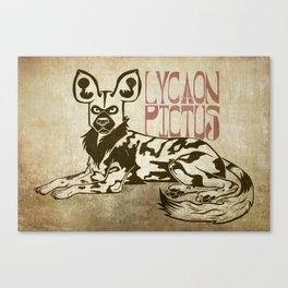 The African Wild Dog (Lycaon pictus) Canvas Print