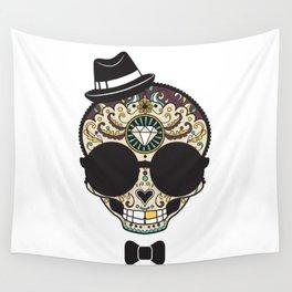 Blind Sugar Skull Wall Tapestry