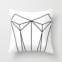 White Corset Throw Pillow