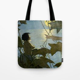"""""""Baby and the Moon"""" by Jessie Willcox Smith Tote Bag"""