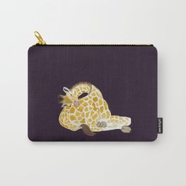 Giraffe sleeping on its own bottom Carry-All Pouch