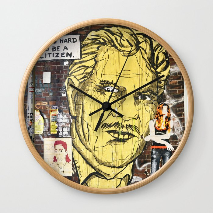 IT IS HARD TO BE A CITIZEN - Berlin Wall Clock