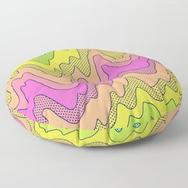 Ooo Ahh Melty Neon Rainbow Floor Pillow