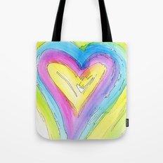 Spring Heart Tote Bag